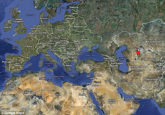 lokasi laut aral