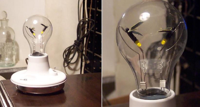 Поделки из старых ламп